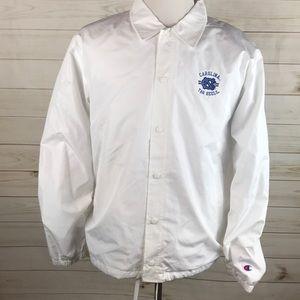North Carolina Tar Heels White Retro Coat Jacket